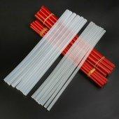 开拓 透明/黑色热熔胶条 7-11mm高粘度无烟热熔胶棒 220122